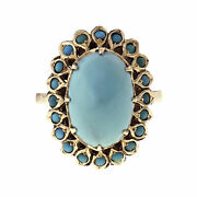 Vintage Persian Turquoise Ring 1950 Gia Certified Natural 14k Gold
