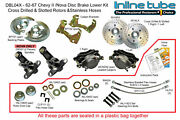 62-67 Nova Chevy Ii Front Disc Brake Conversion Wheel Kit Set Cross D And Slotted