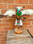 Soaring Eagle Dancer Pow Wow American Indian Pawnee Tribe Totem Sculpture ❤️/m9/