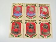 10 Mcdonalds Coca Cola Norman Rockwell Christmas Brass Ornaments 1983 Old Stock
