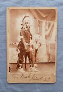 Native American Indian, T Duck, Stillwell, Indian Terr. Vintage Cabinet Card