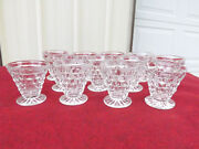 12 Fostoria American Clear Oyster Fruit Cocktail Glasses