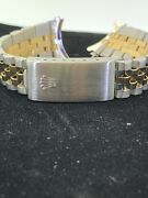 Factory Original Rolex Mid Size Two Tone Watch Band Only Great Condition