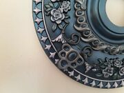 Absolutely Charming Hand Painted Rose Ceiling Medallion Chandelier Light Fan 18