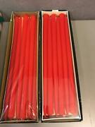 2 Boxes Of Lenox Tiny Tapers Red Box Of 12 10-inch Candles 505 New In Box