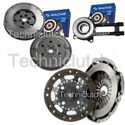 2 Part Clutch Kit And Sachs Dmf With Sachs Csc For Ford Fiesta V Box 1.4 Tdci