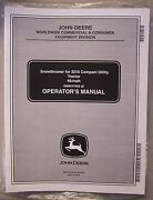 John Deere Operator's Manual Snow Thrower For 2210 Compact Utility Tractor 46