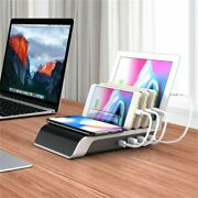 Wireless Charger Stand Iphone Samsung Qc 3.0 Fast Dock Pad Charging Usb Ports