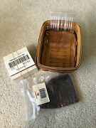 1996 Longaberger Fathers Day Address Card Basket W/fabric Liner,cards And Holder
