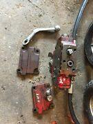 International 300 350 Utility Tractor Hydraulic Valve Flow Block And Hoses Lever And