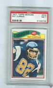 1977 Topps Mexican 403 Pat Curran Chargers Sherboygan Wisc. Psa 7