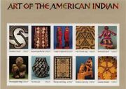 Art Of The American Indian Stamp Sheet -- Usa 3873 37 Cent 2003