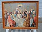 1950s Paint By Numbers Last Supper Picture Adult Done