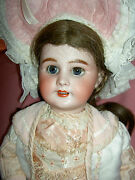 Gorgeous French Antique Bisque Dep 10 Jumeau Doll Pierced Ears Jand039td. Wood Body