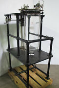 Prism Research Glass Reaction Vessel Cylindrical Reactor With Stand Portable 50l