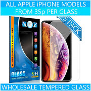 Wholesale Joblot Tempered Glass Screen Protectors For Iphone 5 6 7 Plus X Xs Xr