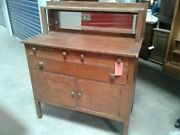 Antique Oak Mission Style Buffet Dining Southwest Decor Western Ranch Furniture