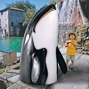 Ne150004 - Thar She Blows Killer Whale Statue - Over 6and039 Tall
