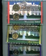 2008 U.s. President P And D 24 Coin Set Platinum Regular And Gold With Holder
