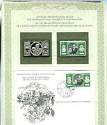 1981 Monaco Postmasters Silver Stamp And Cover First Day Issue Franklin Mint