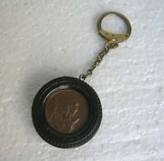 St Christopher Keyx Ring Chain Christopherus In Car Accessory Tire - Semperit