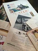 Vintage 350+/- Magazine Ads Oil, Beer, Cars, Clothes, Manufacturing 1930s-50's