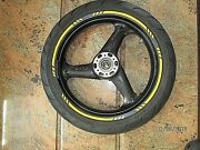 Ducati Oem Black Front Rim And Tire 25mm Axle 748-998 St2 St4 St3 Sts Ss Monster