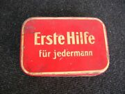 Red First Aid Box Set - Vintage Car Accessory - Germany Oldtimer Classic - Metal