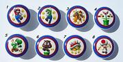 8 Mario Brothers Kids Game Room Dresser Drawer Knobs Made As Ordered