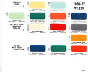 1955 1956 1957 1958 1959 Willys Jeep Trucks Paint Chips 5657 Sherwin Williams 2
