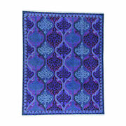 9and0394x11and0398 Purple Pure Cotton Agra Mughal Design Vibrant Colors Rug R36040