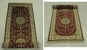 Burgundy Runner New 2.6 X 12 Wine Red Silk Traditional Craftiness Rug