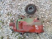 Oliver 70 Rowcrop Tractor Belt Pulley Drive Gear Box Assembly And Main Drive Gear