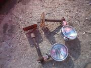 Farmall 300 350 400 450 Tractor Front Ih Light Mounting Mount Brackets + Lights