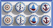 8 Come Sail Away Boys Kids Blues Nautical Dresser Drawer Knobs Made As Ordered
