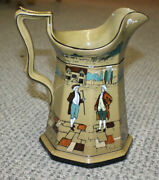 Deldare Ware Buffalo Pottery Pitcher Andndash 1923 Dated Andndash Made For Arlington Lodge 9