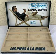 Rare Vintage Butz Choquin Pipe Store Display Box Stand Advertising Bc Shop Ad