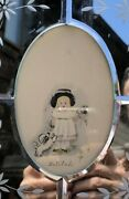 Vintage Venetian Standing Picture Frame, Engraved Mirror Surround W/etching
