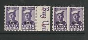 South West Africa 1943/4 Minitures Correct Pairs Um/mnh 2d Both Listed Shades Sg