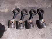 Farmall H Early Sh O4 Hv Tractor 4 Engine Motor R Power Pistons Ring Rods Rod