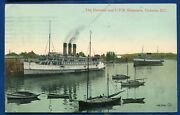 Cpr Canadian Pacific Railroad Steamers Victoria British Columbia Bc Old Postcard