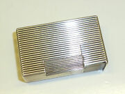 French Solid Silver Jewellers Pocket Liftarm Lighter - 1940 - Rare