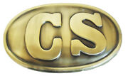 American Civil War Acw Confederate Enlisted Cs Lettered Belt Buckle 8x5cms