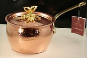 Ruffoni Specialty Cookware Tin Lined Solid Copper Covered Pot Made In Italy Nwt