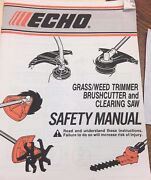 Echo Safety Manual Grass/weed Trimmer Brush Cutter And Clearing Saw