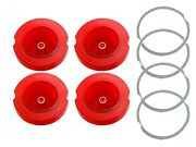 Pg Classic 163-l 1968 Charger Tail Lamp Lenses Set Of 4 Pieces