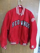 Starter Red Wings Jacket Center Ice Red Hockey Nhl Adult Large Free Ship