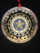 Great Seal Of The State Oklahoma 1907 2010 Christmas Celebrations Ornament Boxed