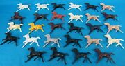 Lot Of 28 Vintage Colored Plastic Horse Figures