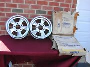 Nos Vintage Mickey Thompson M/t 13x5.5 Wheels 5x4 3/4 Bc Gm Chevrolet Low Rider